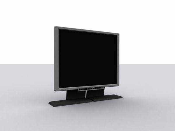 3d model lcd monitor benq fp91g