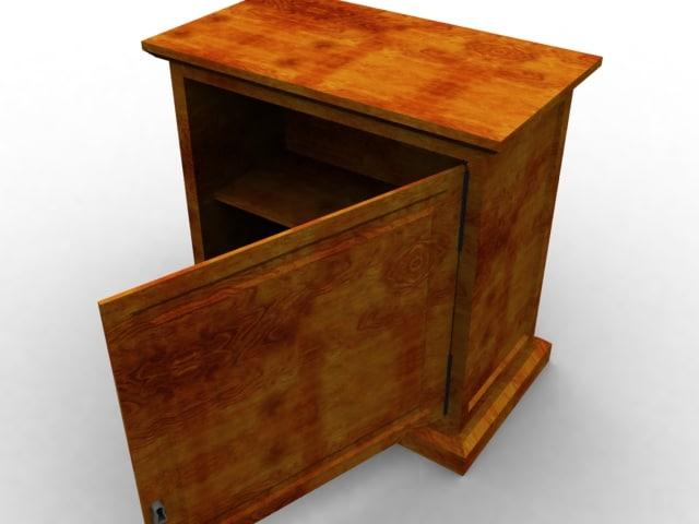 3d wooden nightcloset wood