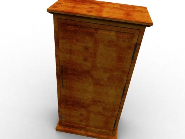 3d wooden closet model