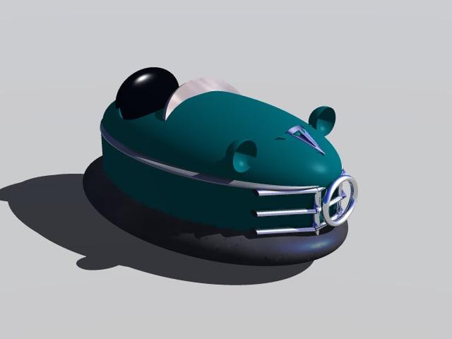 bumper car 3d 3ds