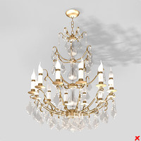 3d model chandelier light