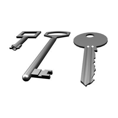 3d model keys lock