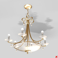 3ds max chandelier light lamp