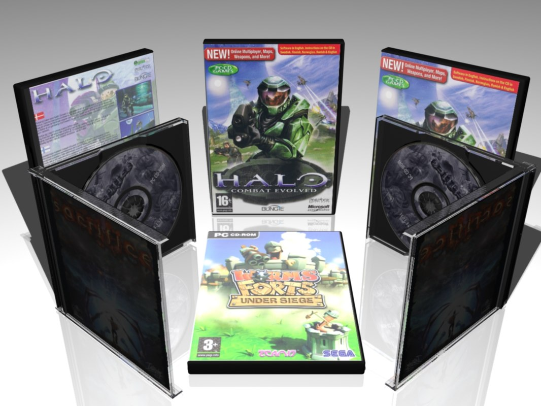 3d model cool cd dvd covers