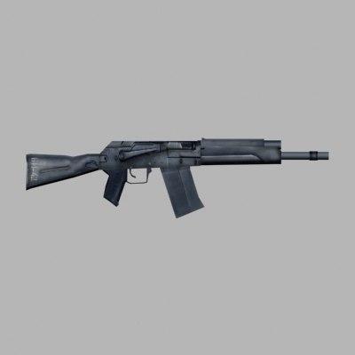 3d model russian shotgun