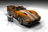 3d car sting model