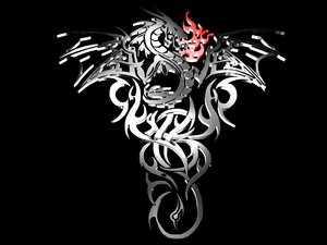 dragon tattoo 3d model