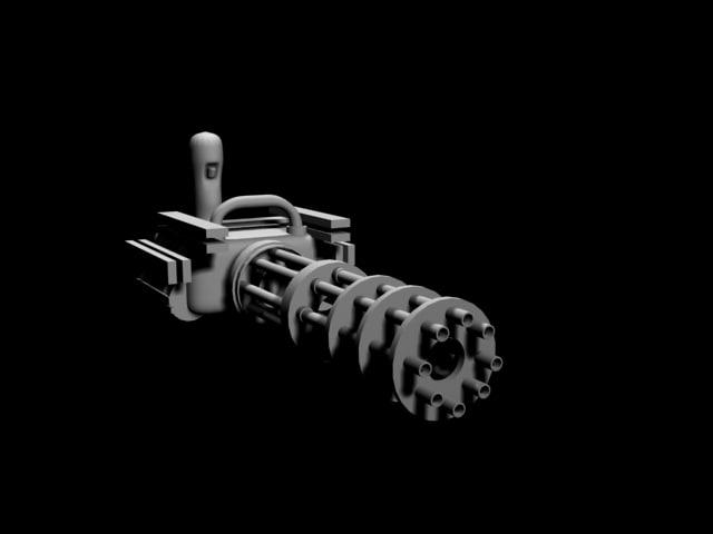 3d model gatlinggun