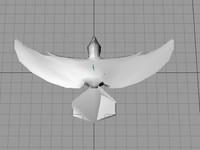 3d model of dove bird