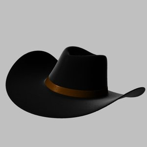 3d model of stetson cowboy hat