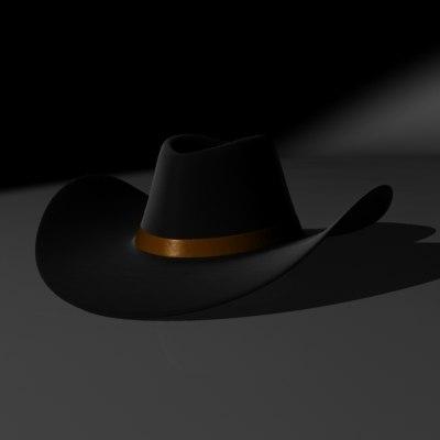 d2c74074c9e92 3d model of stetson cowboy hat
