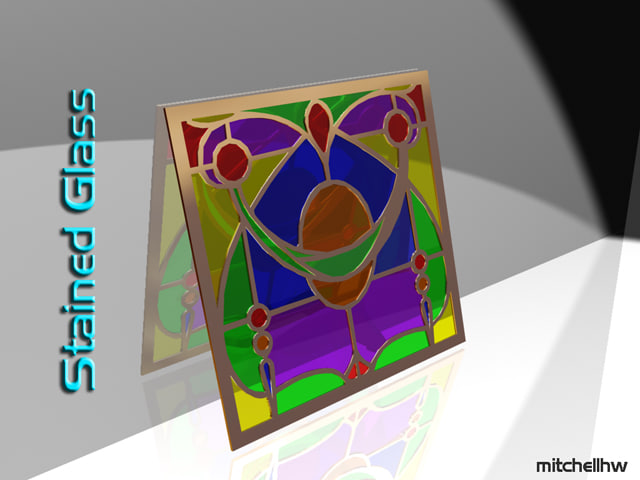 3d model stained glass window