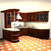 3d kitchen bar