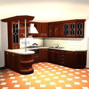 3d kitchen bar