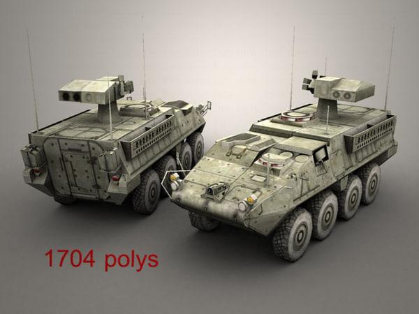 army stryker atgm 3d max