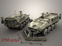 army stryker esv 3d model
