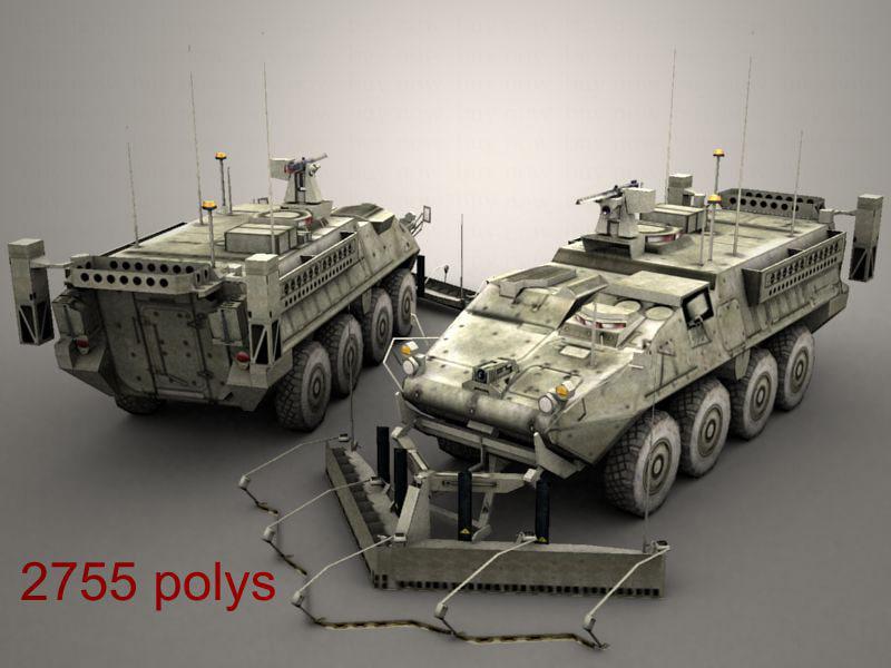 army stryker esv 3d model