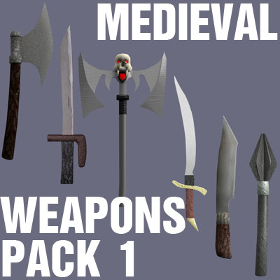 3ds max pack medieval weapons
