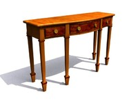 3d model table -