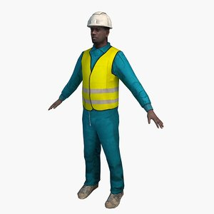 3d model of worker 03