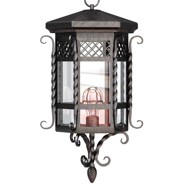 fancy iron lantern lighting 3d model
