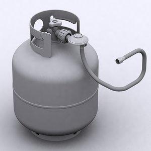 3d model of propane cylinder bbq