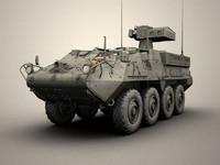 army stryker atgm 3d model