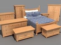 bedroom furniture set bed 3d max