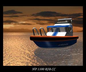 rib cc boat 3d model