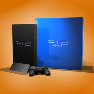 sony playstation 2 3d model