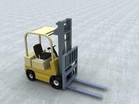 free forklift truck 3d model