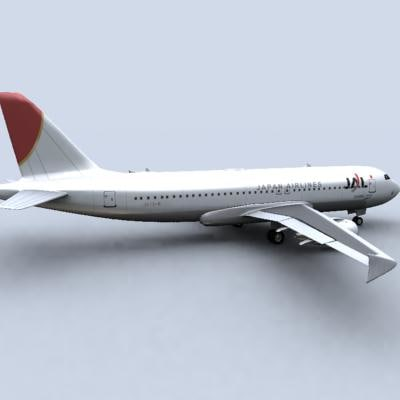 3d airbus a320 jal