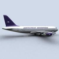 3d airbus a320 aerolineas argentina