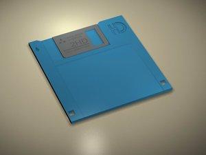 free diskette disk 3d model