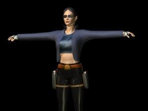 free lady guns 3d model