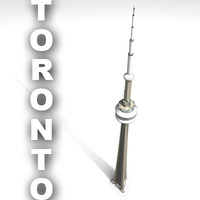 cn tower toronto - 3d 3ds