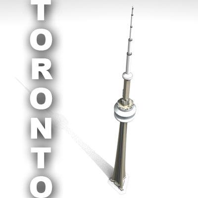 cn tower toronto - 3d 3ds