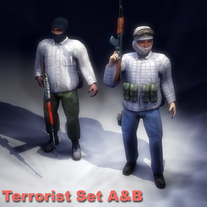3ds max arab terrorist rigged character