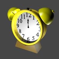 alarmclock alarm clock 3d max