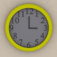 free clock 3d model