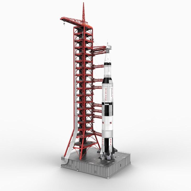 nasa crawler transporter saturn v 3d model