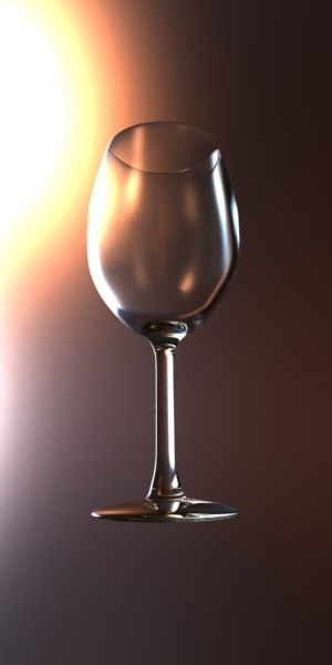 3d wineglass glass wine model