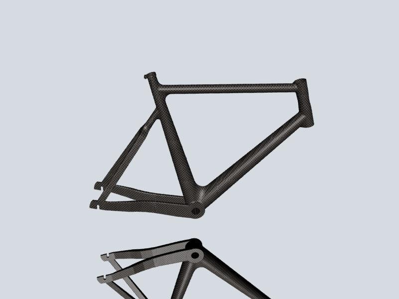 3d model bicycle frame