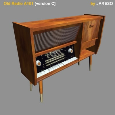 antique radio old a101c 3d model
