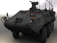 3d obj army stryker cv