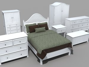 bedroom furniture set bed obj
