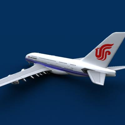 3d airbus a380 air china