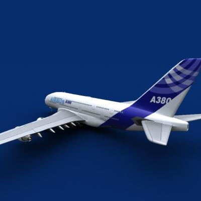 airbus a380 house color 3ds