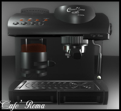 italian coffeemaker obj