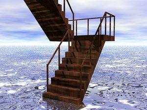 3d stairs building flight model